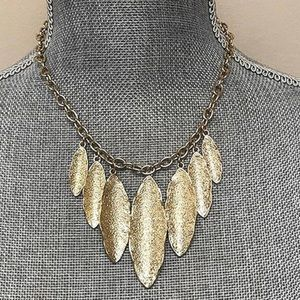 Textured Satin Finished Statement Necklace,NWT